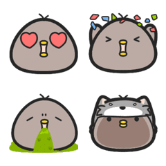 Black chicken emoji – LINE Emoji | LINE STORE