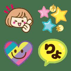 อิโมจิไลน์ OKAPPA GIRL emoji