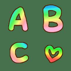Gradation Emoji alphabet Part2