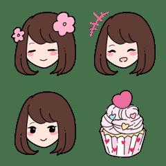 Cute and loved girls emoji