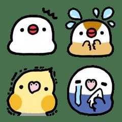 parakeet and Java sparrow Emoji2 – LINE Emoji | LINE STORE