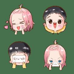 Emoji : Sweet cutie couple