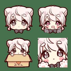 Emoji of the Cute cat ear boy