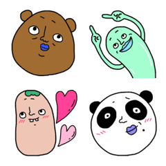 bear and friends easy to use Emoji