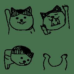 pokefasu scribbling cat