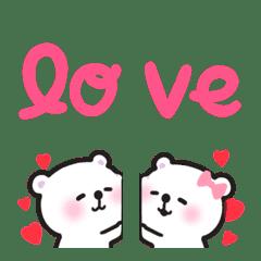 love love emoji set