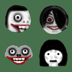 อิโมจิไลน์ Horror face emoji