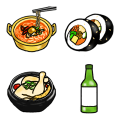 Korean food – LINE Emoji   LINE STORE