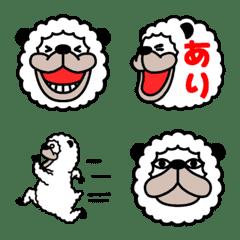 Smiling alpaca pictogram