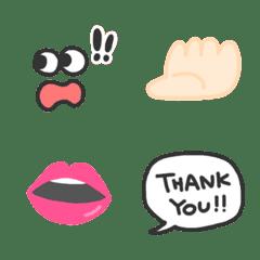 อิโมจิไลน์ simple,various,Emoji