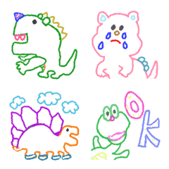 อิโมจิไลน์ Dinosaurs graffiti(Emoji)