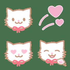 อิโมจิไลน์ White cat Emoji .