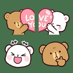 อิโมจิไลน์ Milk & Mocha Emoji