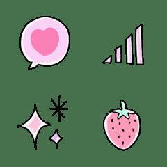 อิโมจิ Pastel girly Emoji