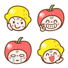 リンゴちゃんとレモンちゃんの絵文字
