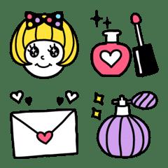 อิโมจิ Girls' Daily Life Emoji