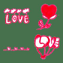 อีโมจิ Kid Drawn Heart V.14