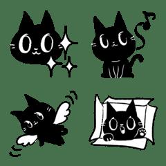 อิโมจิไลน์ แมวดำทางเดียวอิโมติคอน