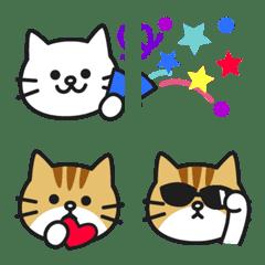 อิโมจิไลน์ White cat with Marmalade cat