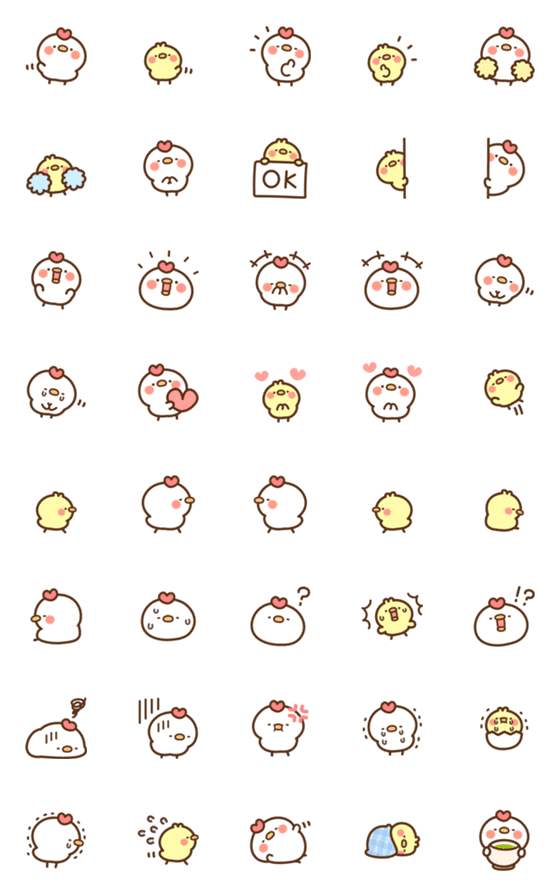 Chicken and Chick Emoji – LINE Emoji | LINE STORE