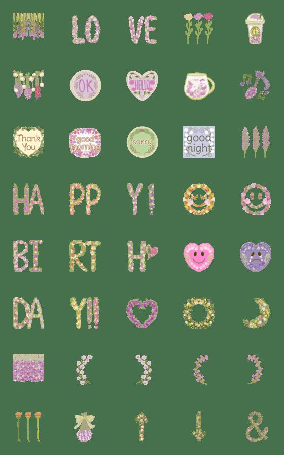 Flower garden emoji – LINE Emoji   LINE STORE