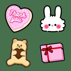 อิโมจิไลน์ Lovely Valentine Emoji