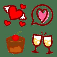 Frohlichen Valentinstag Line Emoji Line Store