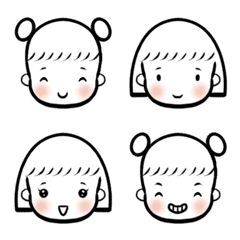 c6d83fef427 Simple Cute Girl – LINE Emoji