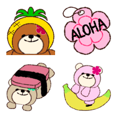 Aloha Bear Emoji
