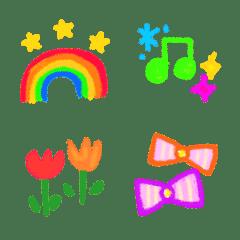 Usable crayon emoji letter 1