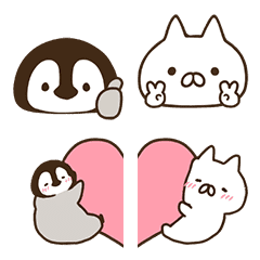 Penguin and Cat Days Emoji 2