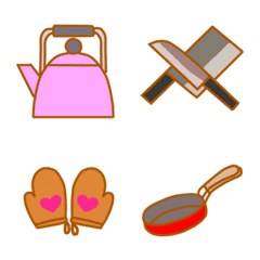 Cute Kitchen Equipment Line Emoji Line Store