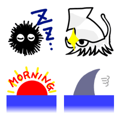 The connected sea & the sea creatures – LINE Emoji | LINE