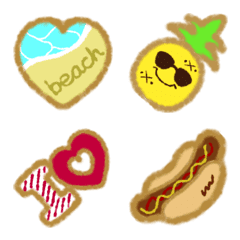 I love cookies tropical ver. Emoji