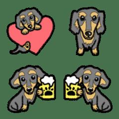 Cute miniature dachshund Emoji – LINE Emoji | LINE STORE