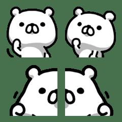 อีโมจิ Bear bold in emoji