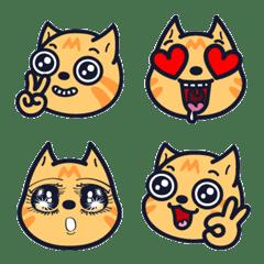 อีโมจิ Smoldering cat #1