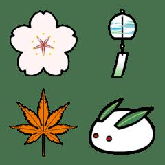 อีโมจิ Japanese Four Seasons Emoji