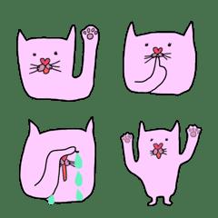 อีโมจิ pink cat