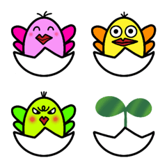 Emoji  of  colorful  bird