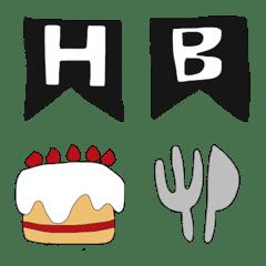 อีโมจิ birthday emoji simple