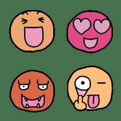 อีโมจิ Round odd person Emoji