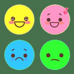อีโมจิ colorful faces
