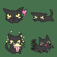 อีโมจิ black cat face variation2