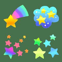 อีโมจิ Rainbow-colored cute twinkle collection