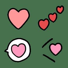 อีโมจิ various hearts