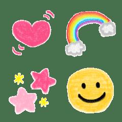 อีโมจิ Crayon decorated letter