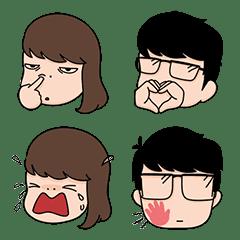 อิโมจิไลน์ Aida & Kiki Emoji