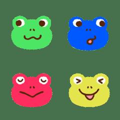 Colorful frog emoji