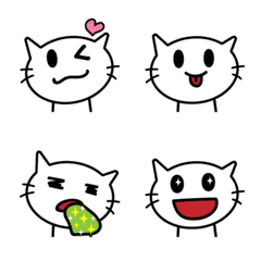 Nekotan (white cat) -emoji-